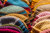 Colorful woolen cap for winter — Stock Photo
