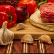Stock Photo: Mexiccuisine ingredients for Burrito