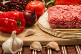 Mexican cuisine, meat and vegetables — Stock Photo