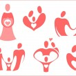 The theme is family in the icons — Imagen vectorial