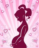 The icon is illustration of pregnant woman — Vector de stock
