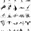 Set of silhouettes of summer sport — Stock Vector #29245121