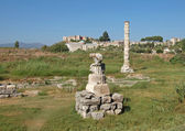 Ruins of temple of Artemis are in Turkey — Stock Photo