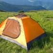 Orange touristic tent — Stock Photo