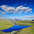 Blue lake in a mountain valley — Stock Photo #12710803
