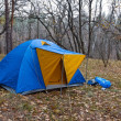 Stock Photo: Autumn touristic camp
