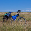 Touristic bicycle in steppe — Foto de stock #13202648
