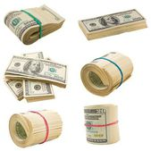 Us dollars isolated on a white — Stock Photo