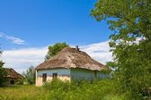 Rural house in a village — Stock Photo