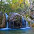 Water cascades on a mountain river — Stock Photo