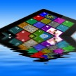 Stock Photo: Flooded tablet pc
