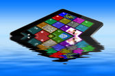 Flooded tablet pc — Stock Photo