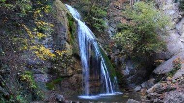 Jur-jur waterfall crimea ukraine — Stock Video