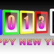 Stock Photo: Stylized tablet pc as newyear gift