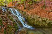 秋の山の滝 — ストック写真
