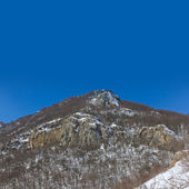 Mount peak in a snow — Stock Photo