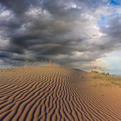 Dark sky above a sandy dune — Stock Photo