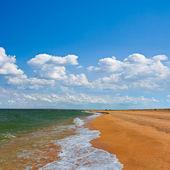 Sandy sea beach — Stock Photo