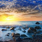 Побережье моря в рано утром — Стоковое фото