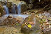 Closeup water cascade — Stock Photo