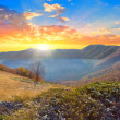 Early morning in a mountains — Stock Photo