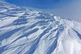 Winter hills scene — Stock Photo