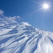 Snowbound moun slope — Stock Photo