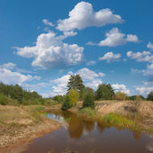 Small lake in a steppe — Stock Photo