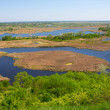 Delta of vorskla river — Stock Photo