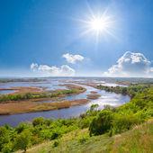 Delta of vorskla river — Stock Photo