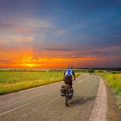 Evening riding — Stock Photo