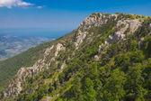 Magestic sylvan mountain ridhe — Stock Photo