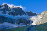 Caucasus mountain glacier — Stock Photo