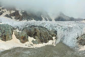 Glacier in a mist — Stock Photo