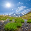 Caucasian mountains scene — Stock Photo