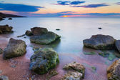 Evening sea coast bi a long exposure — Stock Photo