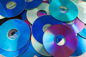 Heap of compact disk as a background — Stock Photo