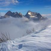 Величественные горные сцены — Стоковое фото