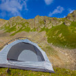 White touristic tent — Stock Photo