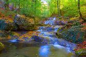 Beautiful autumn mountain canyon — Zdjęcie stockowe