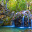 Waterfall on a mountain river — Stock Photo