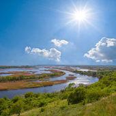 Vorskla river scene — Stock Photo
