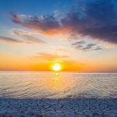 Evening lake — Stock Photo