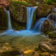 Closeup small waterfall — Stock Photo