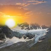 Glacier scene at the sunset — Stock Photo