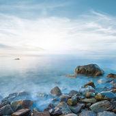 Sea coast by a long exposure — Stock Photo