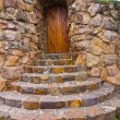 Stone entrance to house — Stock Photo