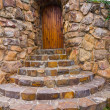 Stone entrance to house — Stock Photo #36107247