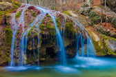 Beautiful blue water cascades — Stock Photo