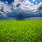 Rural landscape before a rain — Stock Photo